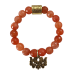 Coral Orange Grace Elliott Mom Bracelet