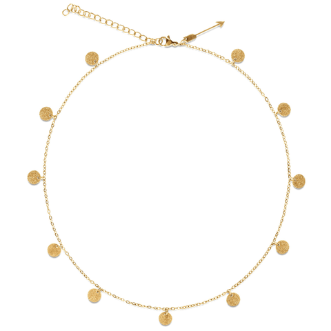 Ellie Vail Sabina Mini Sparkle Disc Necklace
