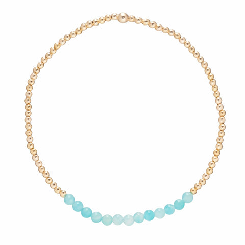 ENewton Gold Bliss 2mm Bead Bracelet - Amazonite