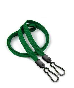Face Mask Lanyard with Plastic Adaptor Clip - Green