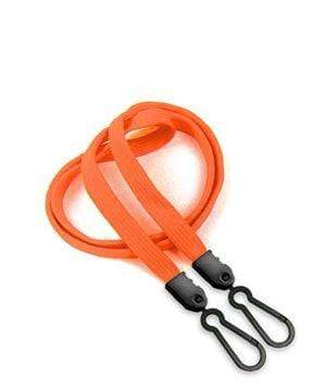 Face Mask Lanyard with Plastic Adaptor Clip - Orange