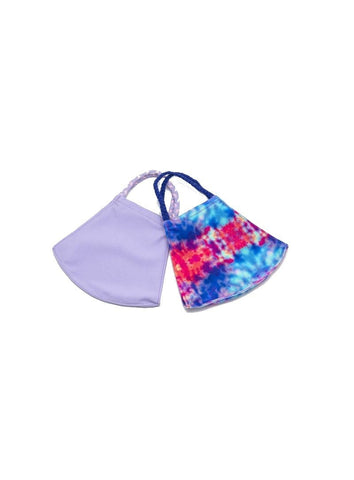 Face Mask Set - Purple Tie Dye