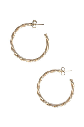 Gold Able Ivy Hoops - Gold