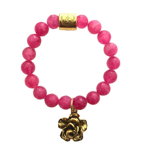 Hot Pink Grace Elliott Friendship Rose Bracelet