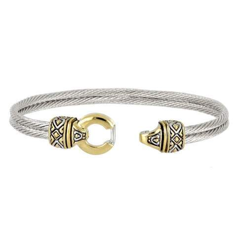 John Medeiros Antiqua Circle Double Wire Bracelet