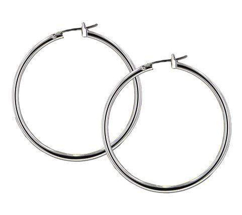 John Medeiros Large Hoop Earrings