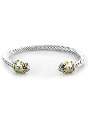 John Medeiros Nouveau Two Tone Thin Wire Cuff