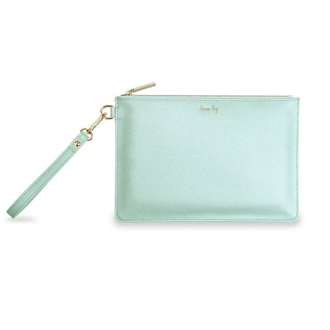 Katie Loxton Secret Message Pouch - Dream Big Seafoam Green