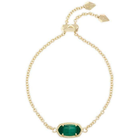 Kendra Scott Elaina Bracelet in Emerald Green Cat's Eye