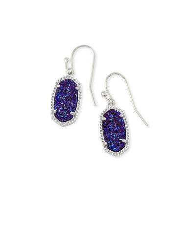 Kendra Scott Lee Drop Earrings in Indigo Blue Drusy