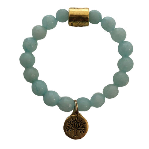 Light Aquamarine Grace Elliott Tree of Life Bracelet