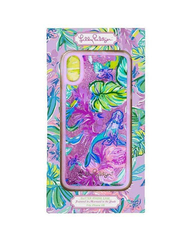 Lilly Pulitzer Glitter iPhone XR Case - Mermaid in the Shade