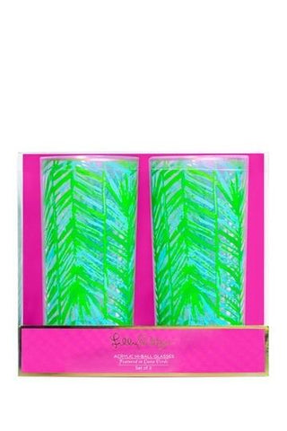 Lilly Pulitzer Highball Glasses - Costa Verde