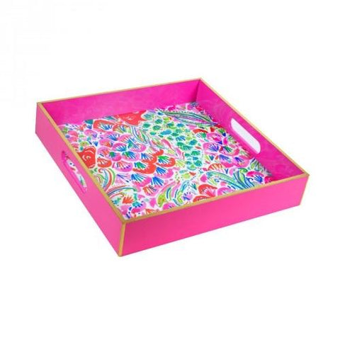 Lilly Pulitzer Square Tray - I'm So Hooked