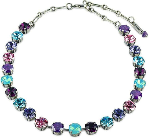 Mariana Silver Plated Crystal Necklace - Cotton Candy