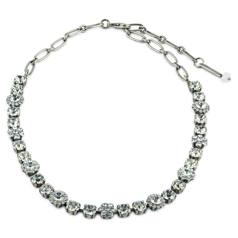 Mariana Silver Plated Crystal Necklace - On A Clear Day