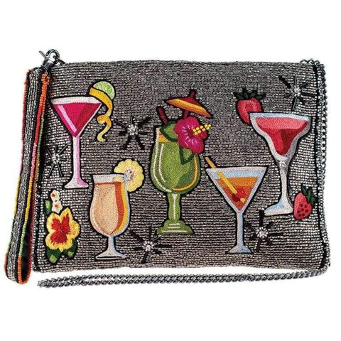 Mary Frances Mixed Drinks Crossbody Beaded Clutch