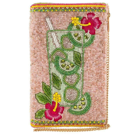 Mary Frances Pick Me Up Mojito Beaded Crossbody Phone Bag