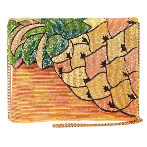 Mary Frances Pineapple Grove Beaded Crossbody Clutch