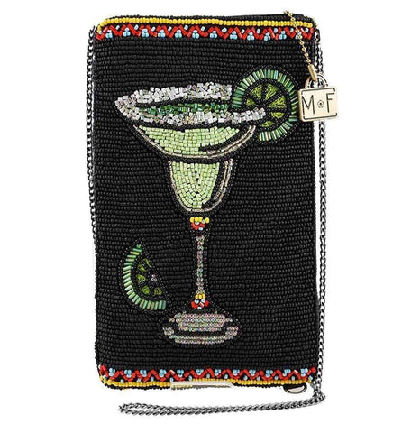 Mary Frances Salty Margarita Beaded Crossbody Phone Bag