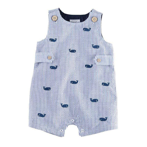 Mud Pie Whale Seersucker Shortall
