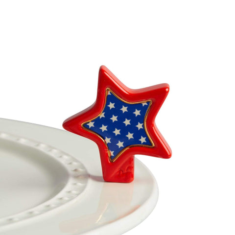 Nora Fleming Mini - Red White & Blue Star