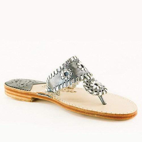 Palm Beach Sandals Classic - Gunmetal / Silver