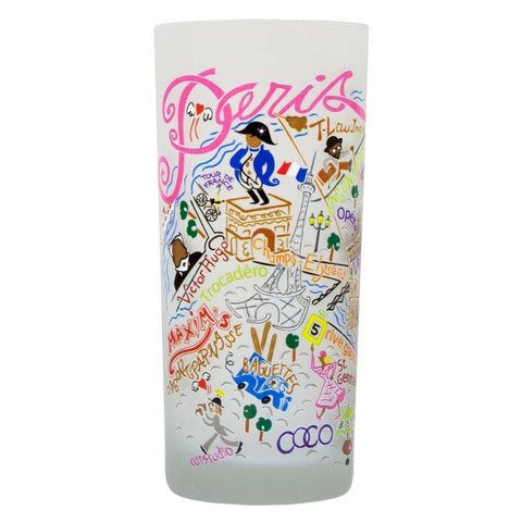 Paris CatStudio International Drinking Glass
