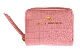 Pink Simply Southern Coin Wallet