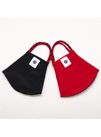 Pomchies Adult Face Mask Set  - Red & Black