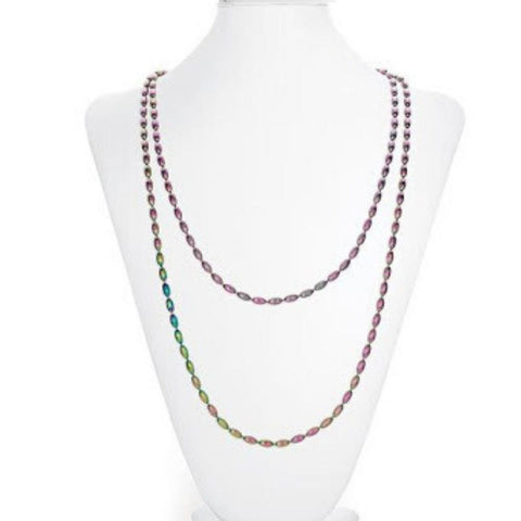 Rainbow Row Charleston Rice Bead Necklace - Rainbow Row
