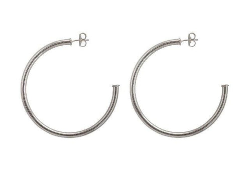 Sheila Fajl Everybody's Favorite Hoop Earrings - Shiny Silver