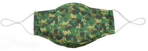 Snoozies Adult Mask With 4 Filters - Green Camo