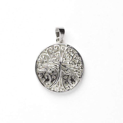 Southern Gates Double Sided Round Tree and Cross Pendant
