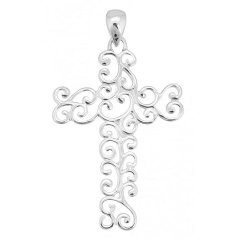 Southern Gates Large Swirl Cross Pendant