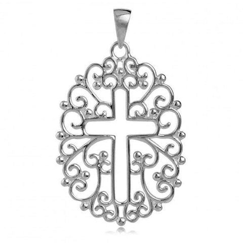 Southern Gates Open Filigree Cross Pendant