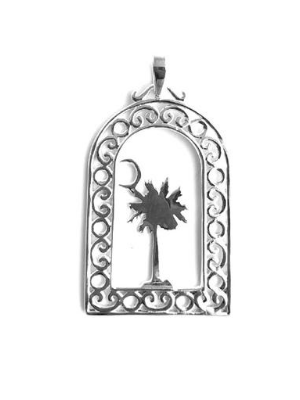 Southern Gates Palm + Moon Pendant