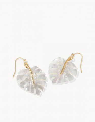 Spartina 449 Monstera Pearlescent Earrings