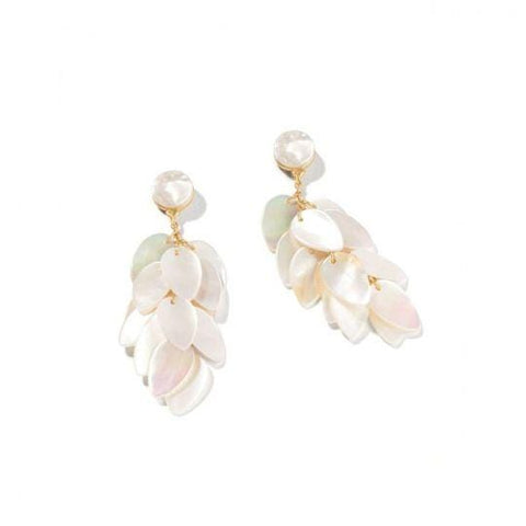 Spartina 449 Scale Shimmer Earrings Pearlescent