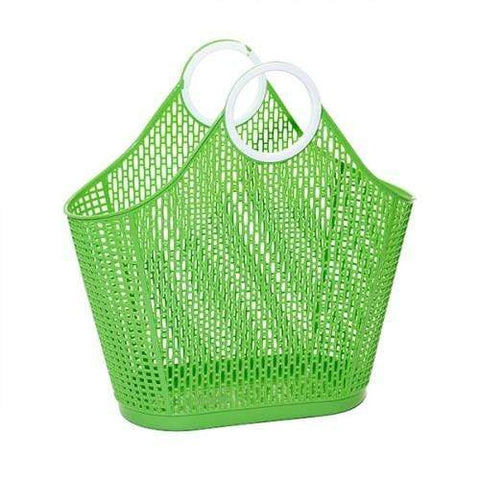 Sun Jellies Fiesta Basket - Large Green