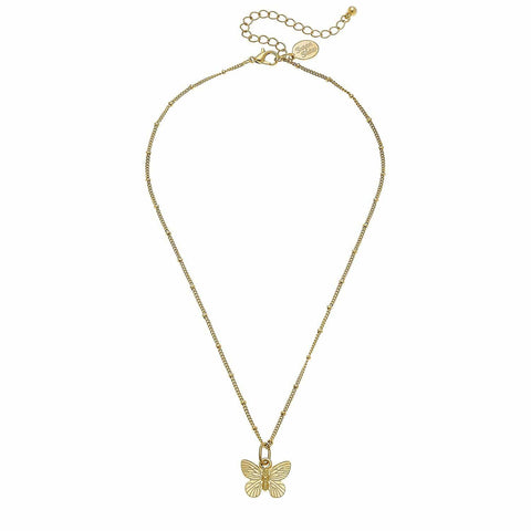 Susan Shaw Dainty Butterfly Necklace