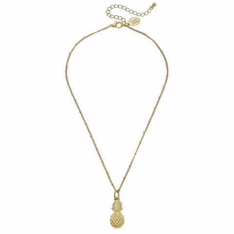 Susan Shaw Dainty Pineapple Necklace