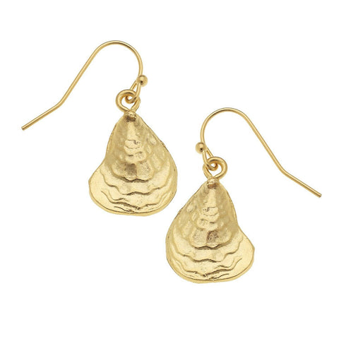 Susan Shaw Oyster Dangle Earrings