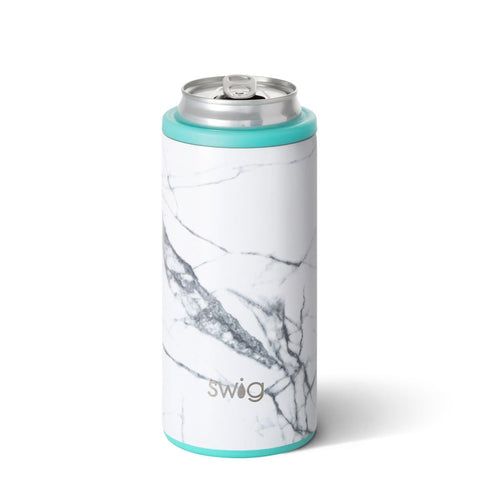 Swig 12oz Skinny Can Cooler - Marble Slab
