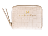 White Simply Southern Coin Wallet