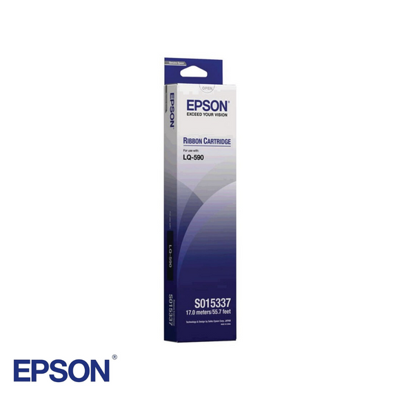 Black Ribbon Cartridge for Epson LQ-590, Part # S015337