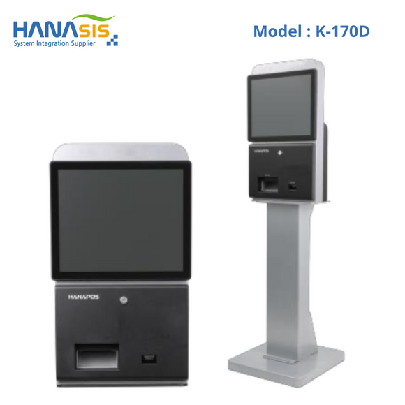 Hanasis K-170D, Self Service Kiosk, Intel J1900 Processor, 2D Scanner & Printer