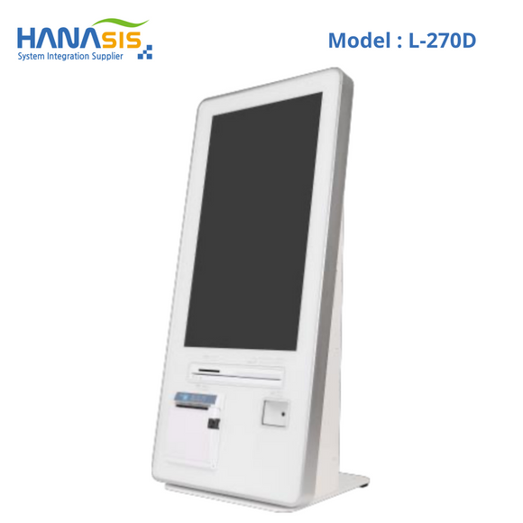 Hanasis L-270D, Self Service Kiosk, Intel J1900 Processor, 2D Scanner & Printer