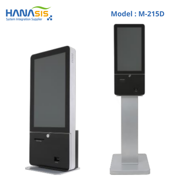 Hanasis M-215D, Self Service Kiosk, Intel J1900 Processor, 2D Scanner & Printer