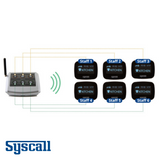 Syscall ST-4006 Bell, 6 Buttons with external antenna, Transmitter with Multiple  functions